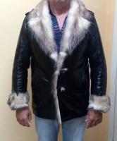 Куртка мужская «Dadaism». Вставка – мех – кролик. Размер 48. Длина 80 см.